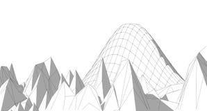Schizzo geometrico astratto, illustrazione Fotografie Stock Libere da Diritti