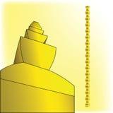 Schizzo ispirato dalla scultura senza fine della colonna illustrazione di stock