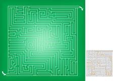 Schizzo quadrato del gioco del labirinto, livello avanzato Fotografia Stock Libera da Diritti