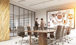 Schizzo Startup nella sala riunioni Fotografia Stock
