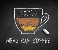 Schizzo tirato del gesso di vettore del caffè di Mead Raf illustrazione vettoriale