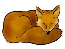 Schläfriger Fuchs stock abbildung