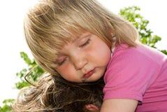 Schläfriges kleines Mädchen Lizenzfreie Stockfotos