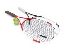 Schläger des Tennis 3d Stockfotos