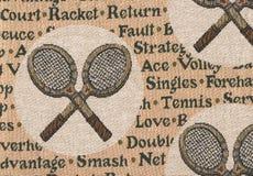 Schläger von Tennis. Stockfotografie