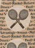 Schläger von Tennis. Lizenzfreies Stockbild