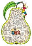 Schlängeln Sie in einer Birne - Labyrinth für Kinder Lizenzfreie Stockfotografie