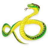 Schlängeln Sie sich Pythonschlange stock abbildung