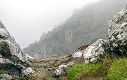 Schlösser im Nebel Stockbilder