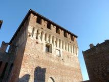 Schlösser von Italien - das mittelalterliche Schloss von Soncino - Cremona - es Stockfotografie