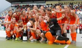 Schlüsse der Frauen. Hockey-europäisches Cup Deutschland 2011 Stockfotografie
