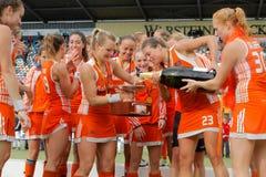 Schlüsse der Frauen. Hockey-europäisches Cup Deutschland 2011 Lizenzfreie Stockfotos