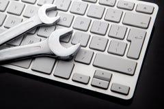 Schlüssel auf Computertastatur Lizenzfreie Stockfotos