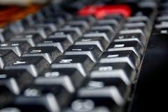 Schlüssel bord Makroschuß lizenzfreie stockfotografie