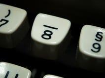 Schlüssel der Nr. acht auf Weinleseschreibmaschine Lizenzfreies Stockbild