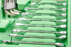 Schlüssel in einem toolbock Stockfoto