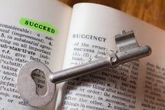 Schlüssel für Erfolg Lizenzfreies Stockfoto