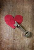Schlüssel für Herz, Liebe, Verstand Stockfotografie