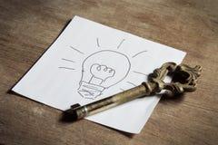 Schlüssel für Idee Stockbilder