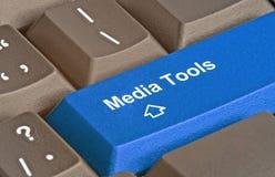 Schlüssel für Medienwerkzeuge Stockbild