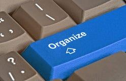 Schlüssel für Organisation stockbilder