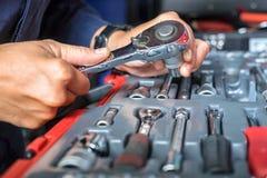 Schlüssel-gesetztes Blog-Werkzeug Stockfotos