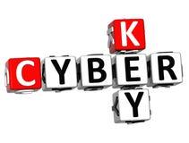 Schlüssel-Kreuzworträtsel des Cyber-3D Stockbild
