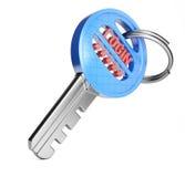 Schlüssel mit Anmeldung und Passwort Lizenzfreie Stockbilder
