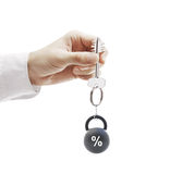 Schlüssel mit Gewicht Lizenzfreies Stockfoto