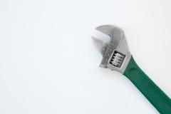 Schlüssel mit grünem Griffgriff Stockfoto