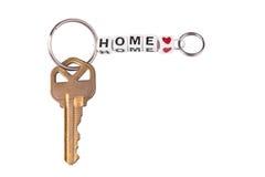 Schlüssel mit keychain Lizenzfreie Stockfotos
