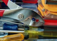 Schlüssel mit Schraubendrehern Lizenzfreie Stockbilder