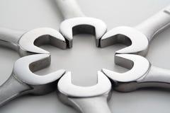Schlüssel-Muster Stockfoto
