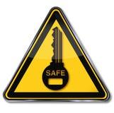 Schlüssel-, Safe und Sicherheit stock abbildung