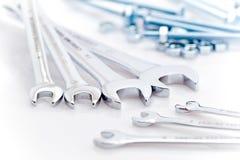 Schlüssel, Schrauben und Muttern Stockbild