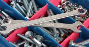 Schlüssel, Schrauben und Muttern Lizenzfreie Stockbilder