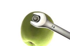 Schlüssel und Apfel Lizenzfreie Stockfotografie