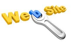 Schlüssel-und Aufschrift Website Stockbilder