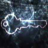 Schlüssel- und binärer Codekennwort Lizenzfreies Stockbild