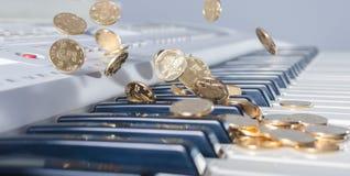 Schlüssel- und Münzenfallen stockfotografie