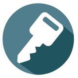 Schlüssel- und Passwortikone lizenzfreie abbildung
