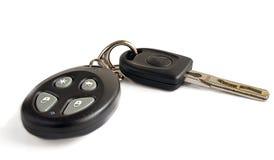 Schlüssel vom Auto auf einem weißen Hintergrund Stockfotografie