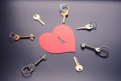 Schlüssel vom Herzen Stockbild