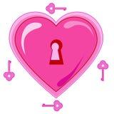 Schlüssel vom Herzen Stockfotos