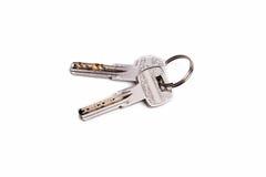 Schlüssel vom Ring auf einem weißen Hintergrund Stockfoto