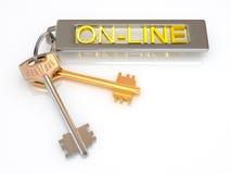 Schlüssel zu online Stockfoto