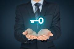 Schlüssel zum Erfolg oder zur Lösung stockfotos