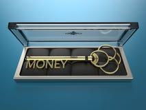 Schlüssel zum Geld Stockfoto