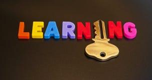 Schlüssel zum Lernen lizenzfreie stockfotos