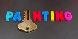 Schlüssel zum Malen Lizenzfreies Stockbild